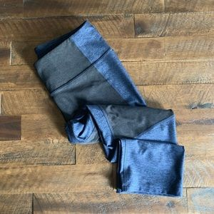 OUTDOOR VOICES techsweat two tone kneecap legging